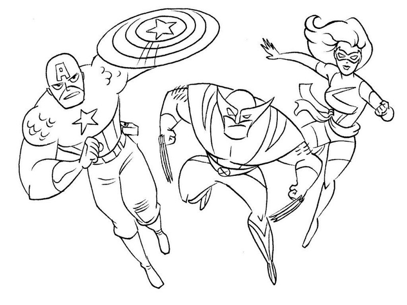 Printable Coloring Pages Superhero Coloring Pages