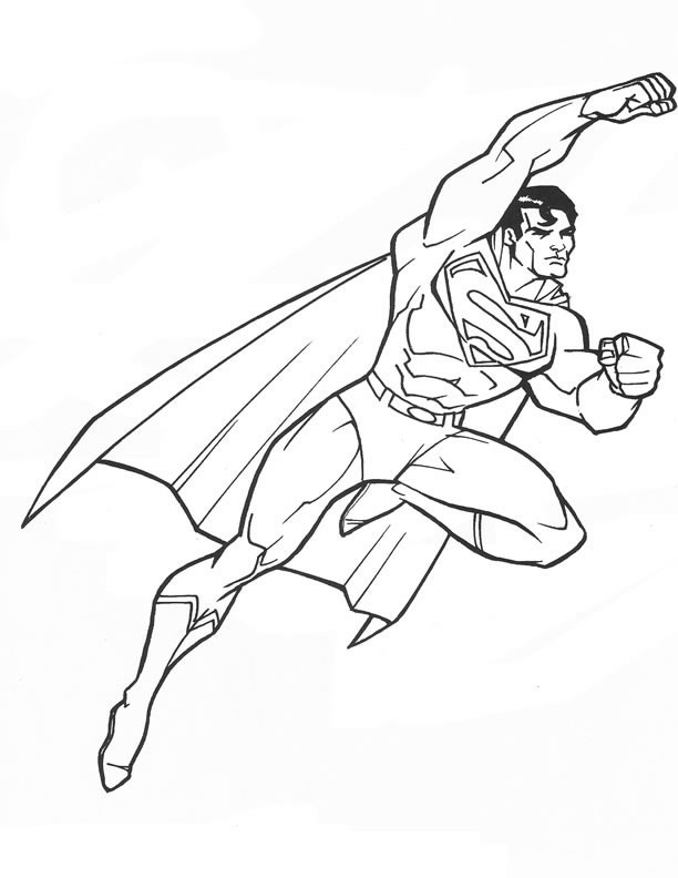superman coloring sheets coloring pages of superman - Color Book Pages