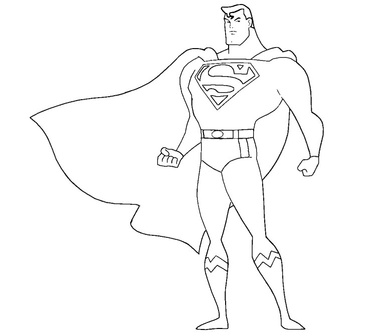 Printable Superman Coloring Pages | Coloring Me