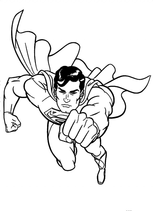 cute superman flying drawing - photo #33