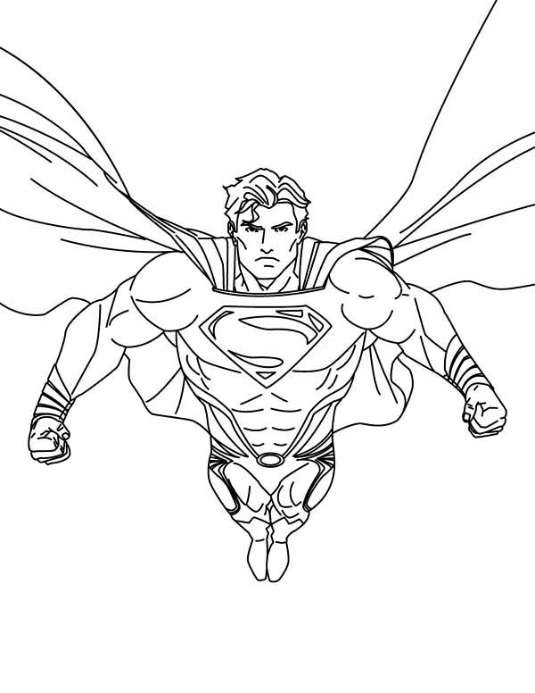 Superhero Superman Coloring Pages Coloring Coloring Pages