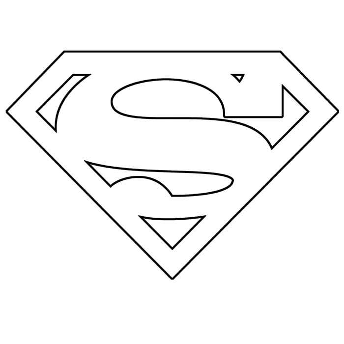 Coloring Pages Superman Flying Free
