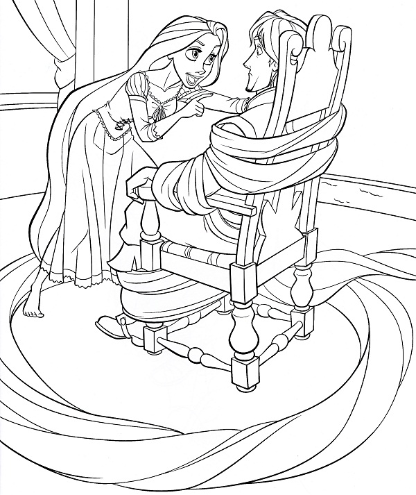 Printable Tangled Coloring Pages | Coloring Me