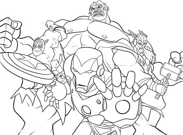 avengers coloring pages free printable - photo#32