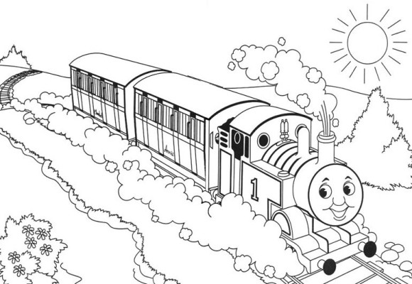 Thomas train engine coloring sheet thomas free engine for Thomas the train color page