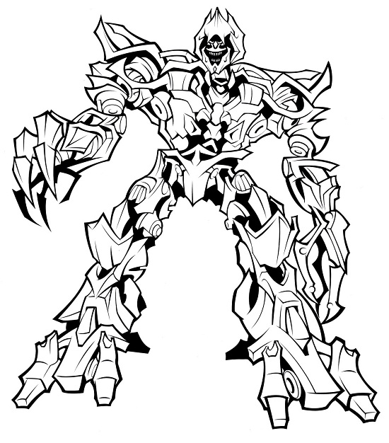 Printable Transformers Coloring Pages Coloring Me Megatron Coloring Pages