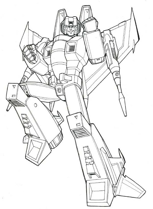 Printable Transformers Coloring Pages Me