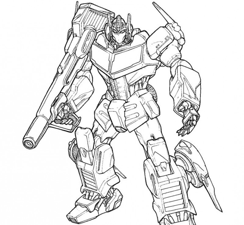 Printable Transformers Coloring Pages