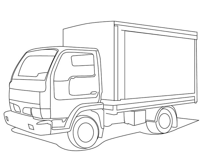 trucks coloring pages print - photo#10