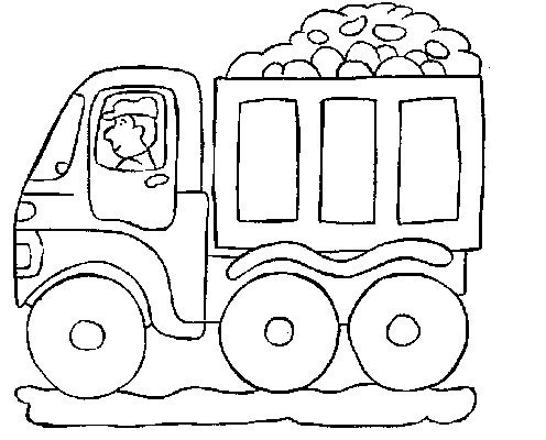 Mail Truck Preschool Coloring Page