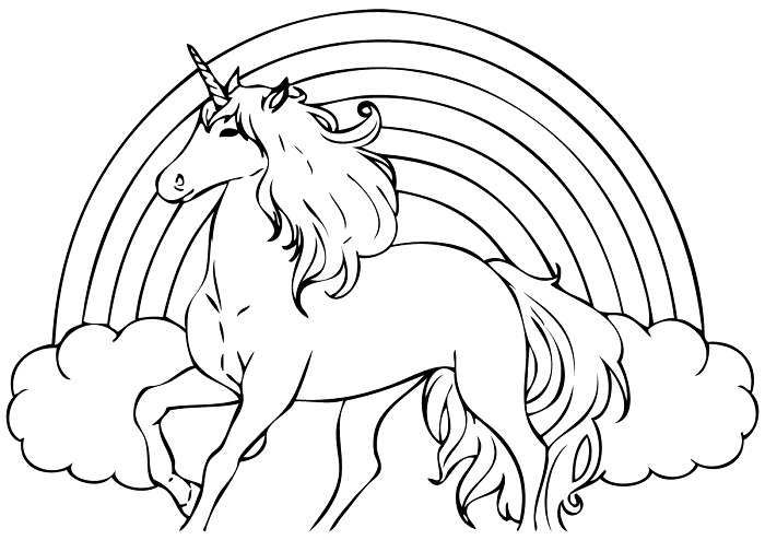 unicorn coloring pages printables - photo#33