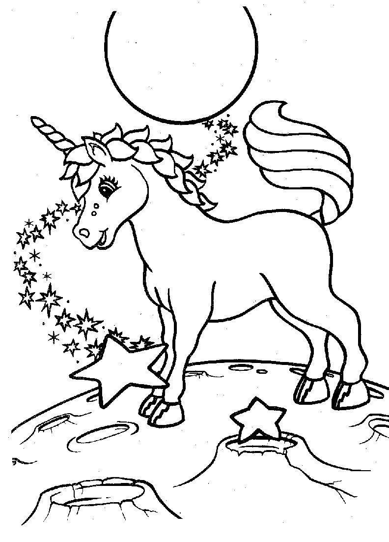 Baby unicorn colouring pages - Unicorn Images Coloring Pages