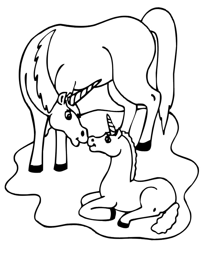 unicorn coloring pages printables - photo#21