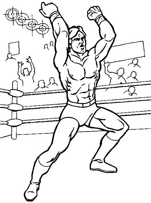 wresler coloring pages - photo#16