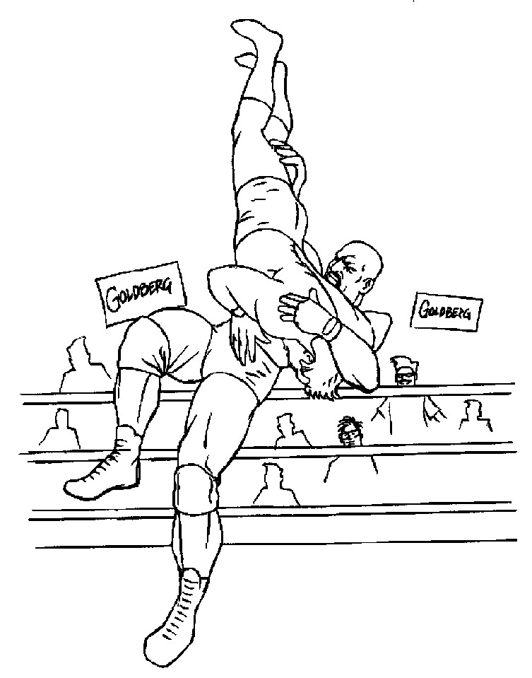 Printable Wwe Coloring Pages Me
