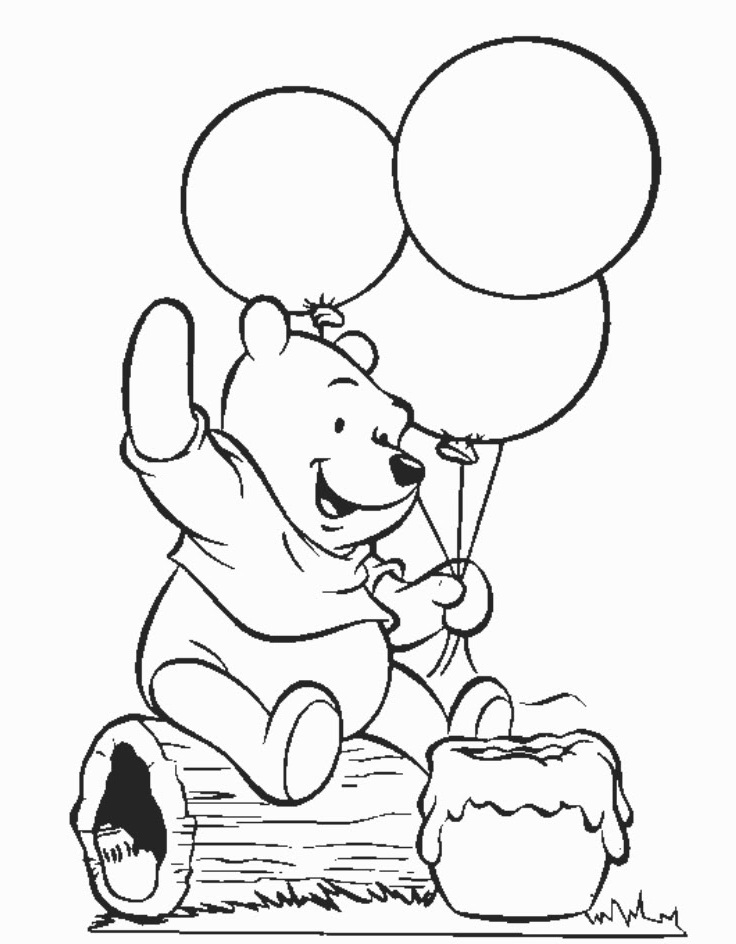 printable winnie pooh coloring pages - photo#13