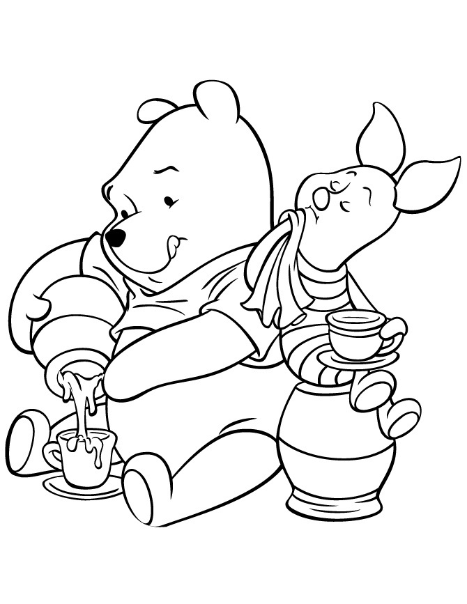 winnie the pooh rabbit coloring pages - disney baby piglet coloring pages