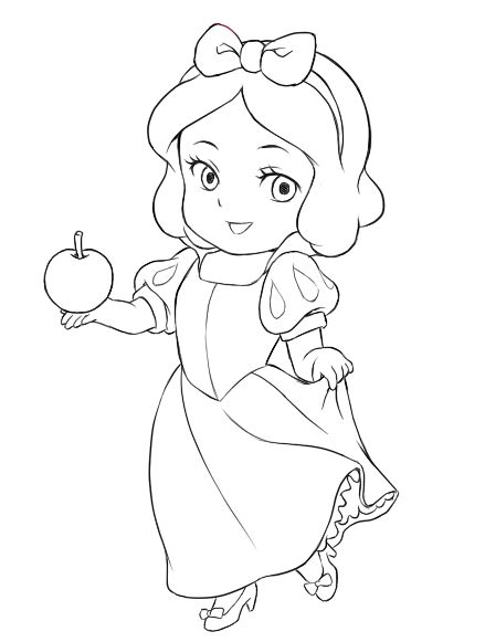 Halloween Disney Princess Coloring Pages Snow White #2190 Disney ... | 581x439