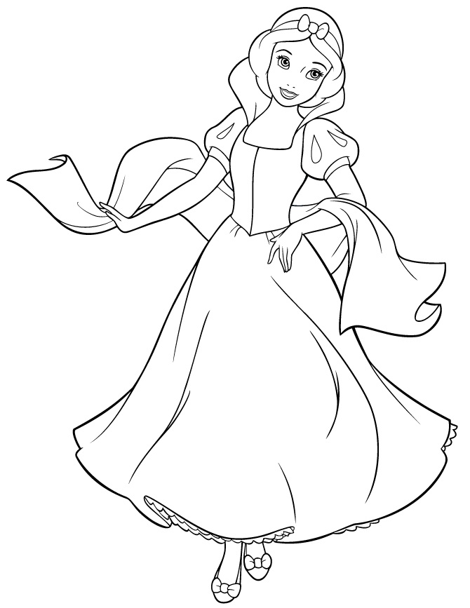 snow white coloring sheets