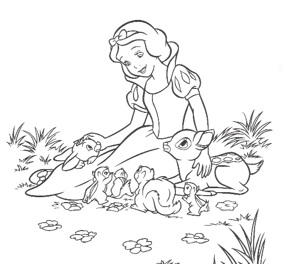 Snow White Coloring Pages Free Coloringme Com