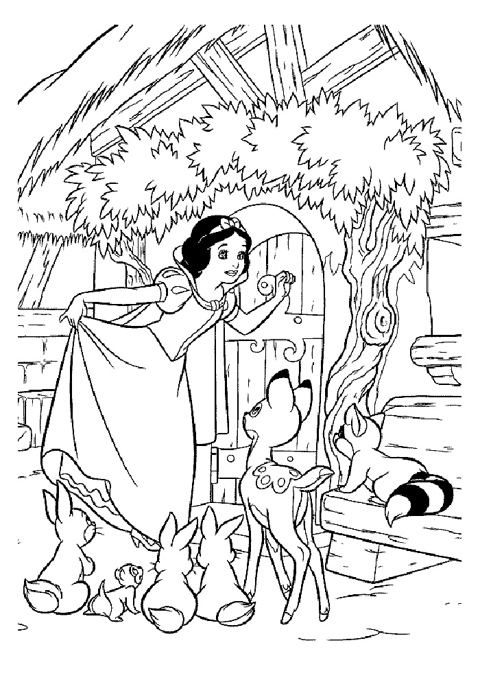 Printable Snow White Coloring Pages Coloring Me