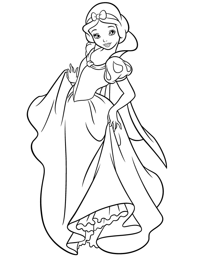 Coloring Pages Snow White - Coloring Home | 867x670