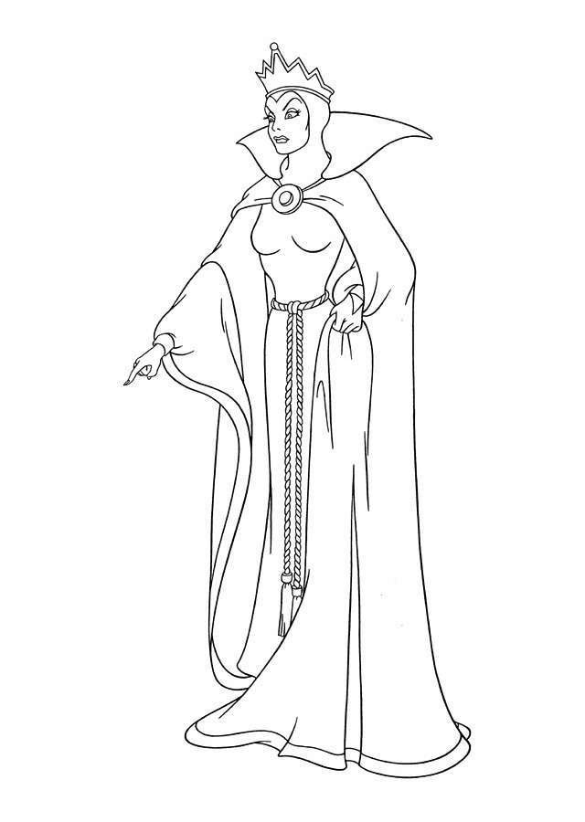 Snow white witch coloring pages murderthestout for Evil queen coloring pages